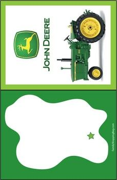John Deere Invite 1, John Deere, Invitations - Free Printable Ideas from Family Shoppingbag.com
