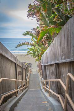 Beech Street beach access in Carlsbad, California.  David Seibold