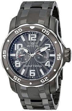 "Invicta Men's 18037SYB ""Pro Diver"" Gunmetal Ion-Plated Stainless Steel Watch Invicta http://www.amazon.com/dp/B00MWOLYL6/ref=cm_sw_r_pi_dp_1oBJub110MDM8"