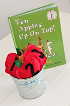 10 Apples Up on Top - A Dr. Seuss inspired game, learn how to make these easy felt numbered apple bean bags for your next Dr. Seuss celebration. - collection bags, online shopping sites for bags, bags with price *ad