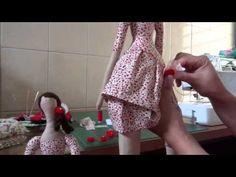 Tilda Parte 11 -Rosinhas em feltro para enfeitar a boneca Tilda - YouTube