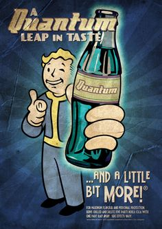 "Continuing on the theme of using the Fallout ""Vault Boy"" iconic character in various Fallout 3 retro-futuristic posters, I opted to create an advertisement poster for ""Jet"". Vault Boy is dressed as. Fallout Art, Fallout Nuka Cola, Fallout Posters, Fallout New Vegas, Fallout Quotes, Ww2 Posters, Retro Posters, Movie Posters, Nuka Cola Quantum"