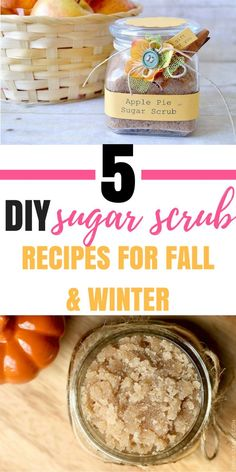 These 5 sugar scrubs are so amazing! Sugar scrubs are all-natural and so good for your skin! I use them all the time and they improve my complexion and make my skin look younger and as soft as baby skin! You've got to try these recipes, plus they make per Sugar Scrub For Face, Sugar Scrub Diy, Diy Scrub, Sugar Scrubs, Homemade Beauty Tips, Diy Beauty, Face Scrub Homemade, Homemade Gifts, Homemade Products