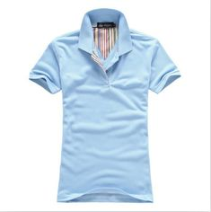 Men Polo Shirt, Casual Sports Polo T-Shirt, Sky Blue