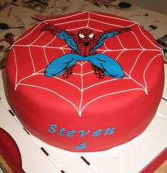 spiderman cake decorating ideas | spiderman cake