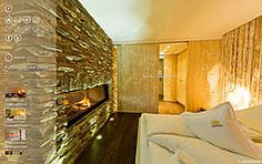 Kamin-Deluxe-Suite 2 - Leading Family Hotel & Resort Alpenrose Furniture, Blog, Home Decor, Large Shower, Open Fireplace, Steam Bath, Hotel Bedrooms, Decoration Home, Room Decor