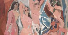 Les Demoiselles d& by Pablo Picasso (Credit: Wikipedia) Pablo Picasso, Most Famous Paintings, Most Famous Artists, Guernica, Bernini Sculpture, Cubist Paintings, Oil Paintings, Infinite Art, Art Terms