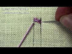 How to Make the Braid Stitch, aka Cable Plait Stitch, in Hand Embroidery. For more information on Braid Stitch, Cable Plait Stitch or other hand embroidery s. The Plaited Braid Stitch used in hand embroidery creates a beautiful double braided line that ta Hardanger Embroidery, Learn Embroidery, Silk Ribbon Embroidery, Embroidery Applique, Cross Stitch Embroidery, Embroidery Patterns, Embroidery Tattoo, Brother Embroidery, Embroidery Thread