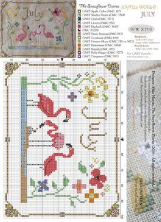 The snowflower diaries July Free pattern