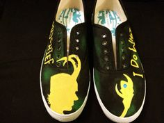 Hey, I found this really awesome Etsy listing at https://www.etsy.com/listing/158539372/loki-inspired-hand-painted-shoes