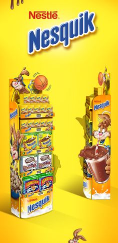 Display for Nesquik on Behance