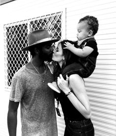 Family: Nicole and her fiance Gary Clark Jnr with their son Zion at Falls Festival in Byro. Mixed Couples, Cute Couples, Interacial Love, Cabaret Show, Gary Clark Jr, Bae, Happy First Birthday, Interracial Couples, Fashion Couple