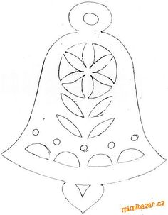 bell deisgn for Christmas card Christmas Advent Wreath, Paper Christmas Decorations, Xmas Ornaments, Felt Christmas, Christmas Crafts, Christmas Sewing, Card Patterns, Embroidery Patterns, Xmas Drawing