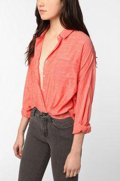 BDG Breezy Dolman Button-Down Shirt, urban outfitters