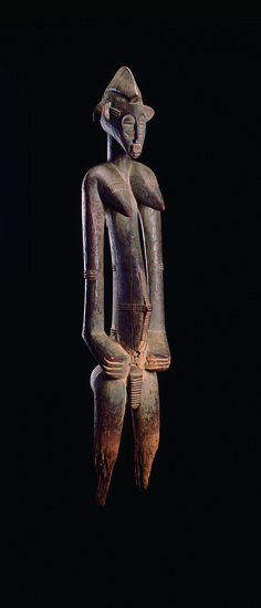 Africa | Female ancestor figure from the Senufo people of the Ivory Coast | Wood | 20th century