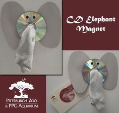 Put a pachyderm on your fridge with this easy do-it-yourself craft that uses recycled materials.