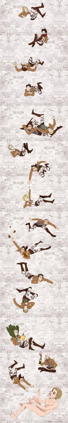 Zoe Hanji is the best haha xD Falling by ~eruemcee on deviantART Shingeki no Kyojin Attack on Titan SnK AoT