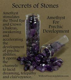 Secrets of Stones - Amethyst for Psychic Development