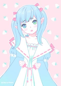 Anime cute love girl