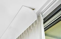 Ceiling Curtain Track, Ceiling Curtains, Home Curtains, Curtains With Blinds, Interior Ceiling Design, Pooja Rooms, Blinds For Windows, Window Design, Window Coverings