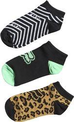 2014 Fox Racing Fierce 3 Pack Casual Motocross MX Footwear Adult Women's Socks