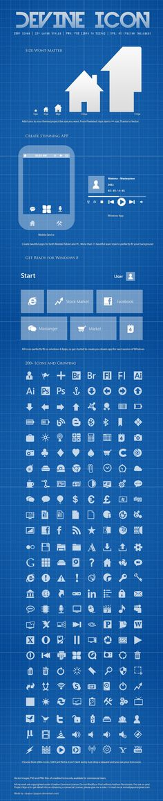 Devine 2 Icon Pack - 200 Icons http://www.iconspedia.com/pack/devine-part-2-icons-4246/