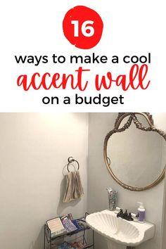 Update your home decor for cheap with a quick and easy accent wall. Freshen up your home decor with these DIY ideas for your bathroom, bedroom and living room. #diy #accentwall #homedecor Wood Spa, Funky Wallpaper, Leaf Stencil, Shabby Chic Painting, Budget Home Decorating, Rainbow Painting, Lighted Canvas, Faux Brick, Rainbow Wall