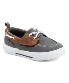 Gray & Brown Cosmo Boat Shoe