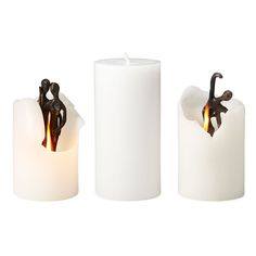 DANCE AND EMBRACE SPIRIT CANDLES | Hidden bronze sculpture spirit candles | UncommonGoods