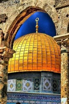 Beautiful photo of the Rock of Dome Mosque - Palestine