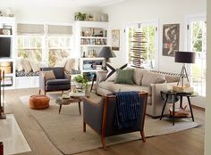 built-ins and bench in living room? -- Design by Scott Horne Design (via Emily Henderson)
