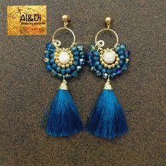 White Tassel Earrings, Tassel Jewelry, Fringe Earrings, Clay Jewelry, Thread Jewellery, Beaded Jewelry, Jewelery, Handmade Jewelry, Skull Earrings