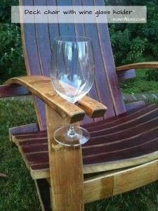 Genius Ideas- deck chair with wine glass holder
