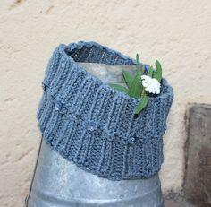 Hippie headbandGray ear warmer  Knit ear warmer  by KennaInAfrica, $23.50