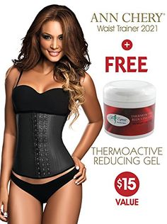 Ann Chery 2021 3 Hooks Womens Faja Latex Waist Cincher  Free Slimming Hot Gel 44 >>> Details can be found by clicking on the image.