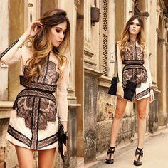 Eyelash Lace Mesh Dress