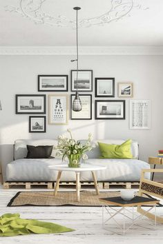 Scandinavian living room by Milan Stevanovic. Are you looking for unique and beautiful art photo prints (not the ones featured on this pin) to create your gallery walls? Visit bx3foto.etsy.com and follow us on Instagram @bx3foto