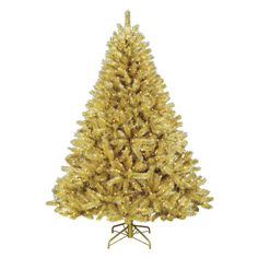 Toasted Champagne Gold Tinsel Tree. No one has pulled off gold quite like this tree.