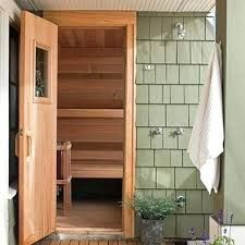 Image result for sauna and outdoor shower room