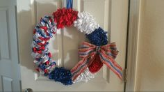 Patriotic wreath.