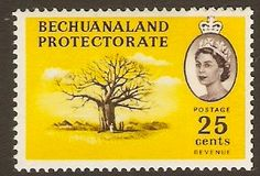 Bechuanaland 1961 25c Baobab Tree Stamp. SG177. - Click Image to Close