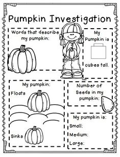 A mini-pack of holiday fun!!! Included are several different pumpkin activities to help you celebrate the season of fall!