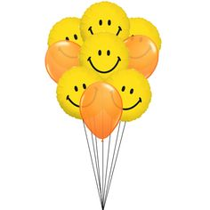 "If you are looking for surprise gift, this is perfect gift to ensure that they will love it. With 6 foil ""Smiley"" balloons and 3 latex balloons, with your loved ones for their special occassion and celebrate with them."