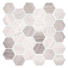 Daltile Limestone Chenille White Marquise Polished Mosaics