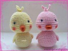 Cutesy Baby Duck Crochet Pattern | AllFreeCrochet.com ... Which one do you prefer? I like the left one best - the beak is so great!