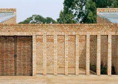 Brick and wicker education centre in Rwanda by Dominikus Stark