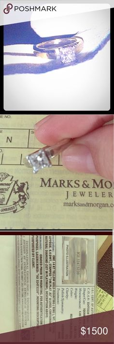 Fancy cut solitary diamond ring This is a gorgeous NATURAL DIAMOND shape: square.  Weight: .82 CT near colorless (H) clarity: I paid $2570.82 for it and I just want it gone ASAP ring size is 5 Jewelry Rings