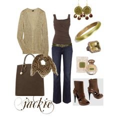 Brown with a hint of green...<3 the boots and the bag