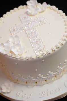 Baptism cake---time to start planning! Now just need to find new godparents!