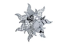 Zentangle+Patterns+sun+pattern   Tangled Zentangled by NeverDoubtILove
